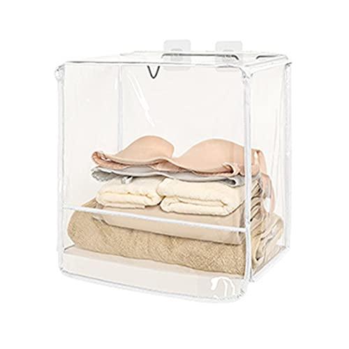 Delisouls Sac de rangement transparent pour salle de bain, imperméable, résistant à la poussière, à suspendre pour vêtements et articles de toilette, grande capacité