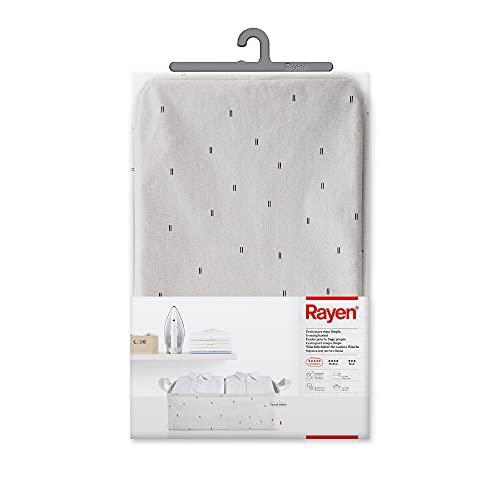 Rayen | Cesto para Ropa Limpia | Crudo con Estampado en Negro | Medidas: 60 x 40 x 20 cm