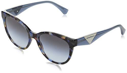 Emporio Armani 0EA4140 Occhiali, Blue Havana/Blue Shaded, 55/19/140 Donna