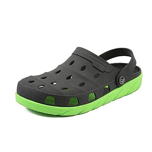 WEIXINMWP Summer Men's Wooden Hole Shoes Shoes de Playa Baotou Sandals Zapatos de Hombres S Goma S Persaltas de Goma Suela Gruesa Pareja de Zapatos,2,42