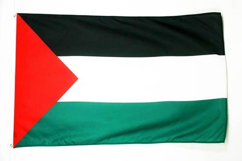 AZ FLAG Flagge PALÄSTINA 150x90cm - PALÄSTINENSISCHE Fahne 90 x 150 cm - flaggen Top Qualität