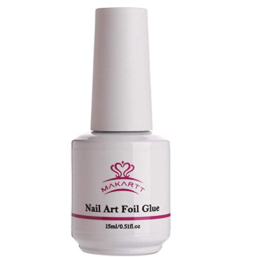 Makartt Nail Art Foil Glue Gel for Foil Stickers Nail Transfer Tips Manicure Art DIY 15ML 1 Bottles...