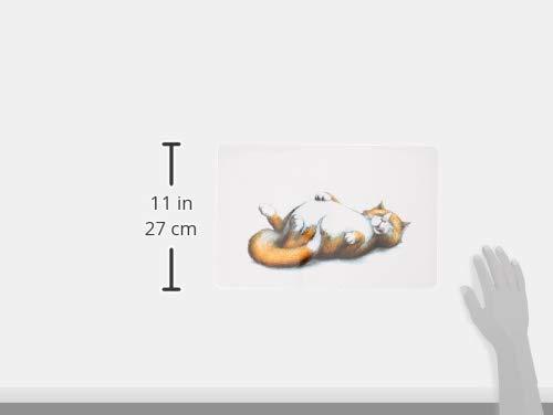 Katzennapf Unterlage Satte Katze, 44 x 28 cm - 2