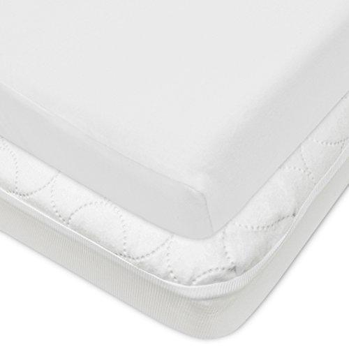 American Baby Company Crib Size Waterproof Mattress Pad Protector and...