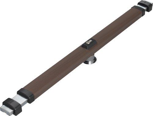 ABUS Panzerriegel PR2700 für Haus- und Wohnungstüren ohne Zylinder, braun, 49095