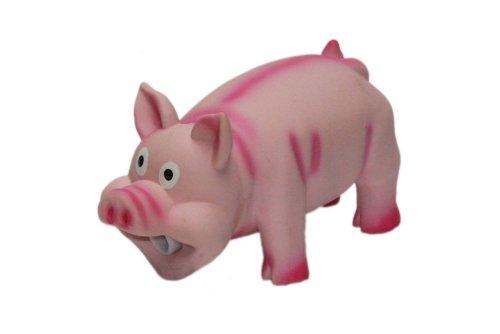 Nobby hondenspeelgoed varken en pieptoon van latex, 16 cm, Roze