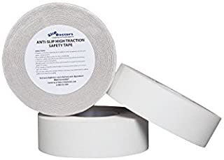 White or Clear Anti Slip Safety Grit Non Slip Tape - Highest Traction 60' Feet Many Sizes (Clear - 2