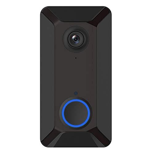 B Blesiya 1Pcs V6 Smart WiFi Doorbell Camera IP Wireless APP Control Cámara De Seguridad - Timbre Individual, 13x7x3cm
