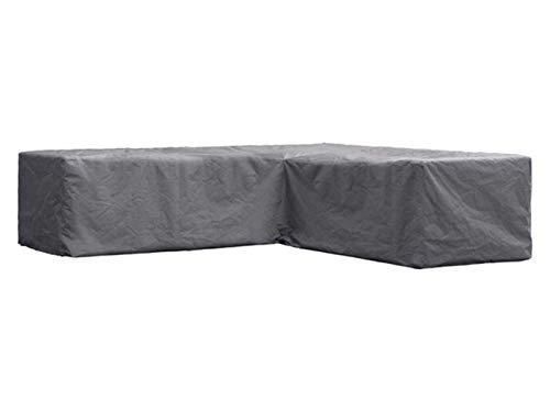 Perel Garden OCLSL300 beschermhoes voor L-vormige lounge-set, 300 cm, zwart, 300 x 300 x 70 cm