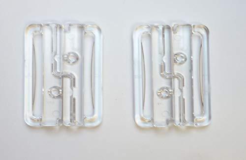 Fildan Bikiniverschluss 30 mm Kunststoff transparent 2 Stück