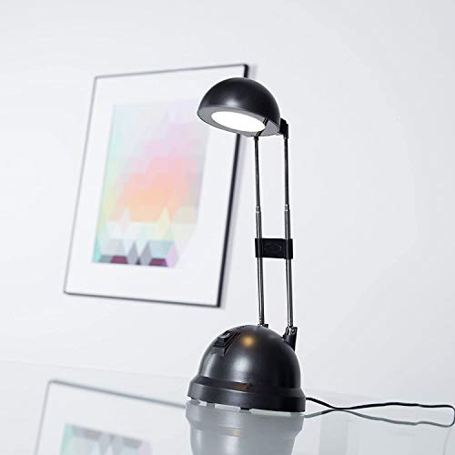 Schreibtischleuchte LED mit Teleskophals 20-44 cm Höhe, 600 Lumen, 2700K warmweiß, Metall/Kunststoff, schwarz