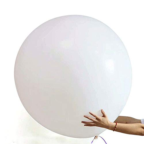 frgasgds 6 Big Balloons 36' Round Balloons Extra Large & Thick Balloons Reusable Giant Latex Balloons, for Photo Shoot/Birthday/Wedding Party/Festival/Event/Carnival Decorations, White