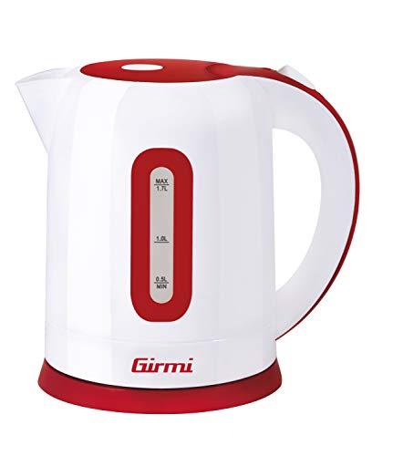 Girmi BL2000 Bollitore, 2200 W, 5 Cups, Plastic, Bianco