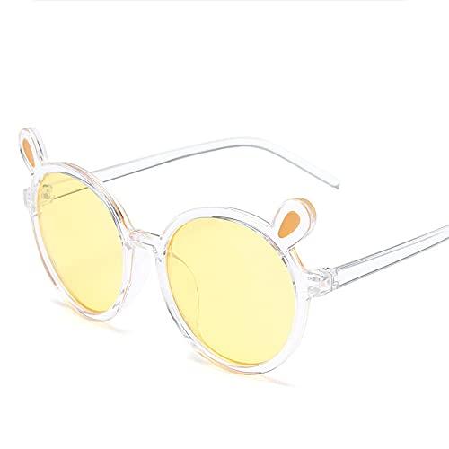 ShZyywrl Gafas De Sol De Moda Unisex Niños Lindos Dibujos Animados Forma De Conejo Gafas De Sol Niños Gafas Redondas Bebé Moda Colores Gafas De Sol Niños Niñas
