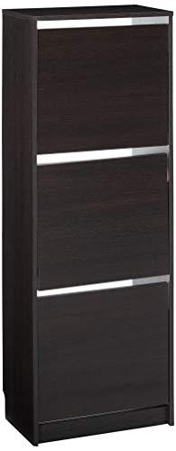 Ikea Bissa 502.484.28 - Zapatero con 3 compartimentos, 19 1/4 x 53 1/8 pulgadas, color negro y marrón
