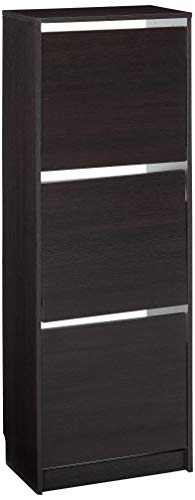Ikea Bissa Zapatero con 3 Compartimentos, Negro 502.484.28, 19 1/4x53 1/8', Marrón