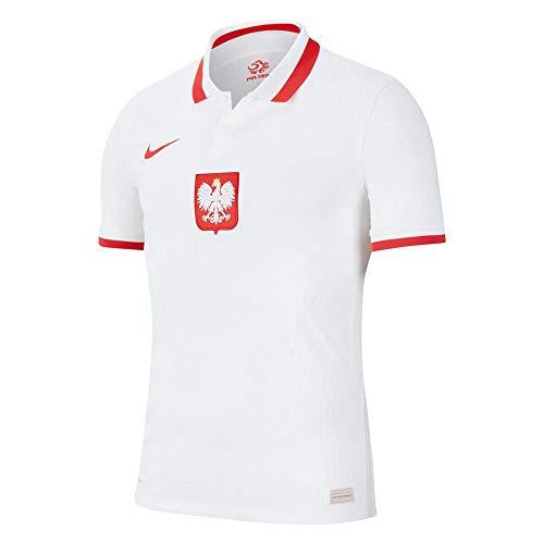 NIKE 2020-2021 Polonia Home Vapor Match calcio t-shirt, Uomo, bianco, L