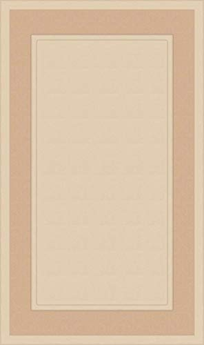 Unfinished MDF Square Flat Panel Cabinet Door by Kendor, 22H x 13W