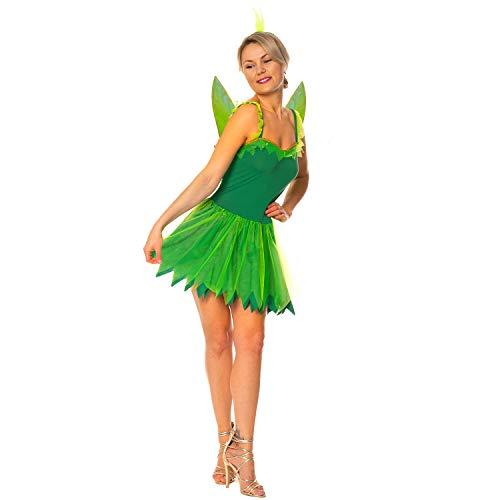 Womens Woodland Fairy Tinkerbell Neverland Pixie Hen Night Nymph Fancy Dress