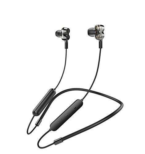 Bluetooth Headphones 5.0 Wireless Earbuds IP6 Waterproof Quad Drivers HiFi with Stereo Bass, 10 Hours Play Time,Noise Cancelling Sweatproof Sport in-Ear Earphones for Running Workout Gym