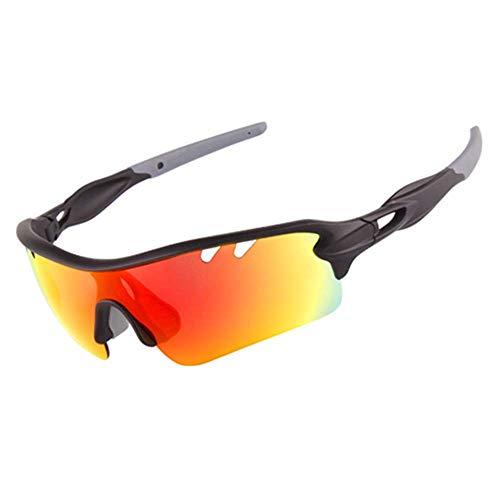 HAOQI Ciclismo Vintage Polarizadas Aire Libre Deportes Gafas De Sol,Correr Unisex Gafas,HD Antideslumbrantes Moda Gafas, Clásico Protección UV Gafas-B 15.2x4.8cm(6x2inch)