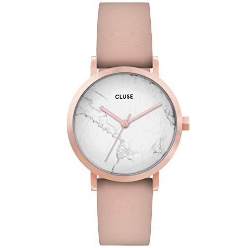 CLUSE dames analoog kwarts horloge met lederen armband CW0101205004