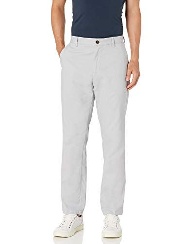 Amazon Essentials Men's Classic-Fit Wrinkle-Resistant Flat-Front Chino Pant, Light Grey, 38W x 32L