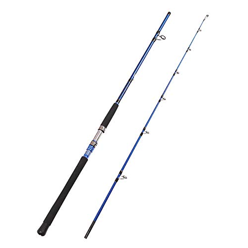 Fiblink 2-Piece Saltwater Spinning Fishing Rod Offshore Graphite Portable Fishing Rod (7-Feet) (7' Medium Heavy)