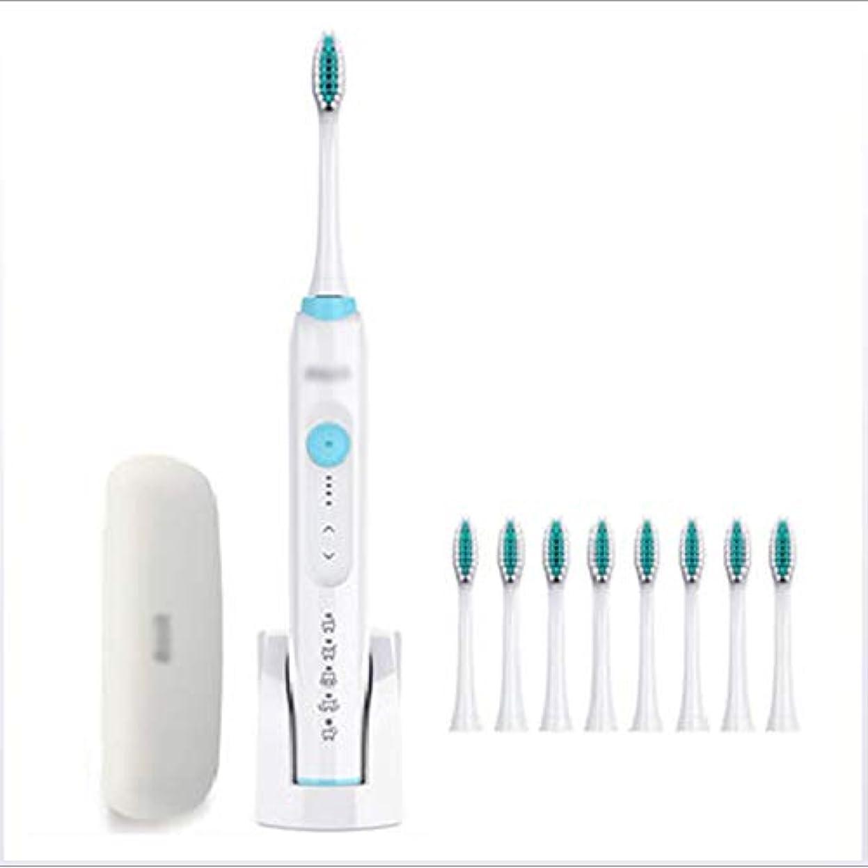 ジャベスウィルソン巨大活性化する電動歯ブラシ、充電式自動ソフトヘア防水男性と女性のスマート,Blue