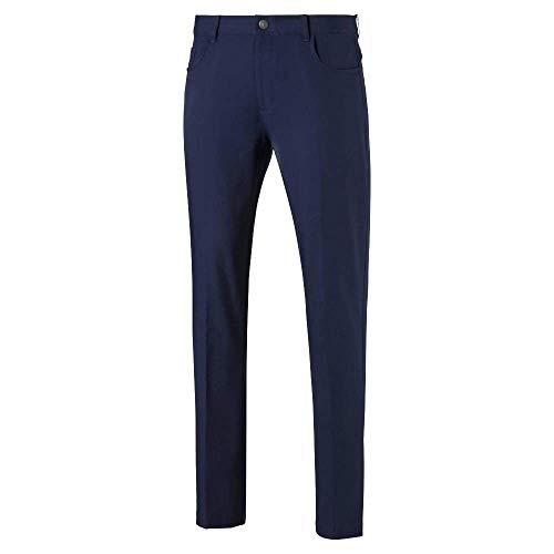 Puma Men's Golf 2019 Jackpot 5 Pocket Pant, Peacoat, 32 x 30