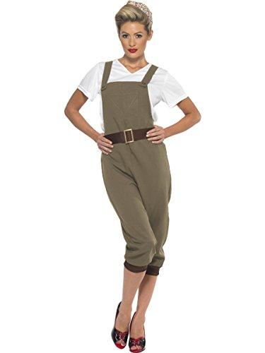 Smiffys Women's WW2 Land Girl Costume, Multi, Medium