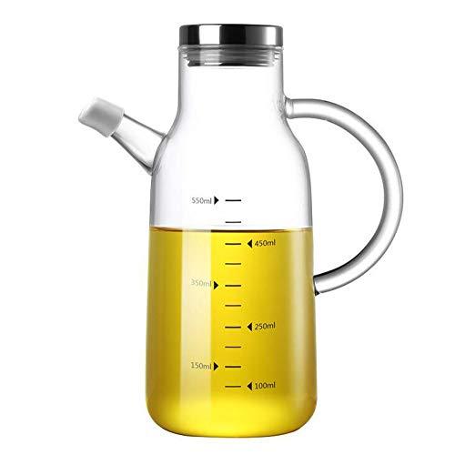 Aceiteras Antigoteo Cristal, Dispensador Aceite, Oliva y Vinagre Recipiente Aceite Para Cocina,Vinagrera,Aceiteras, 550ml