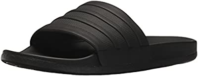 adidas Women's Adilette Comfort Slide Sandal, Black, 11 M US