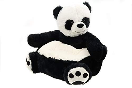 Creation Gross Sessel/Stuhl/Sofa/Sitzsack für Kinder, Tiere, weicher Plüschbezug 50 * 50 * 45cm (Panda)