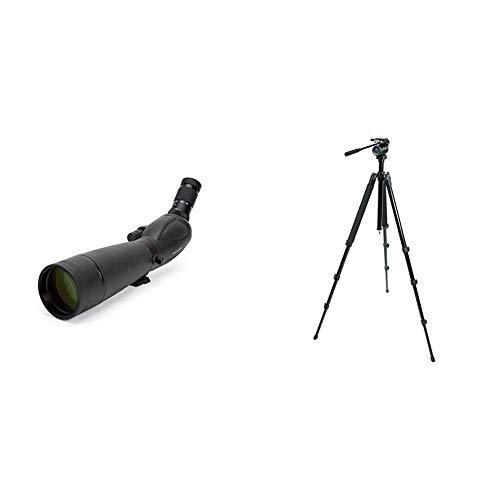 Find Bargain Celestron 52332 TrailSeeker 80-45 Degree Spotting Scope(Black) &  82050 TrailSeeker Tri...