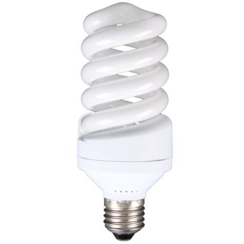 Walimex pro Spiral-Tageslichtlampe 30 W - Daylight Spirallampe Fotolampe Energiesparlampe, E27 Fassung, 5500K Tageslicht, 30 W entspricht 150 W Glühbirne,...