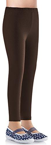 Ladeheid Mädchen Leggings aus Baumwolle LAMA03 (Braun28, 140-146)