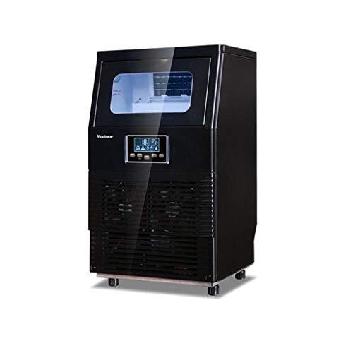 Vollautomatische Eismaschine, EiswüRfelherstellungsmaschine FüR Gewerbe, 55kg, Lcd-Bildschirm, Lichtplanung, Automatische Reinigung, 40-Fach GroßE EiswüRfelschale, Auf- Und Ab-Flapper