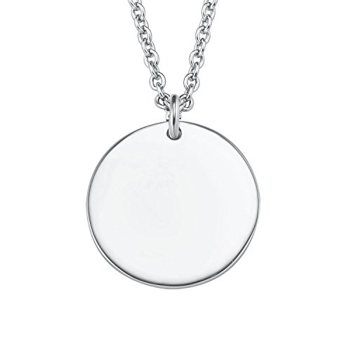 s.Oliver Damesketting 42 + 3 cm met hanger munt graveerbaar 925 sterling zilver