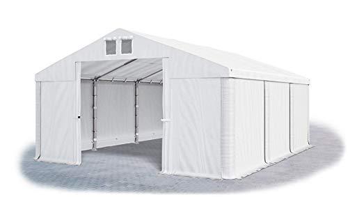 Das Company Lagerzelt 5x6m wasserdicht weiß Zelt 560g/m² PVC Plane hochwertig Zelthalle Summer SD