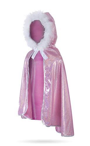 Great Pretenders 50415, Glitter Princess Cape, Pink, US Size 5-7