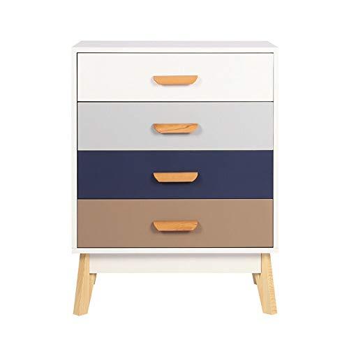 Ruication kist van lades met lades nachtkastje opbergkast zijkast houten meubelkastjes voor slaapkamer woonkamer hal badkamer keuken Offic