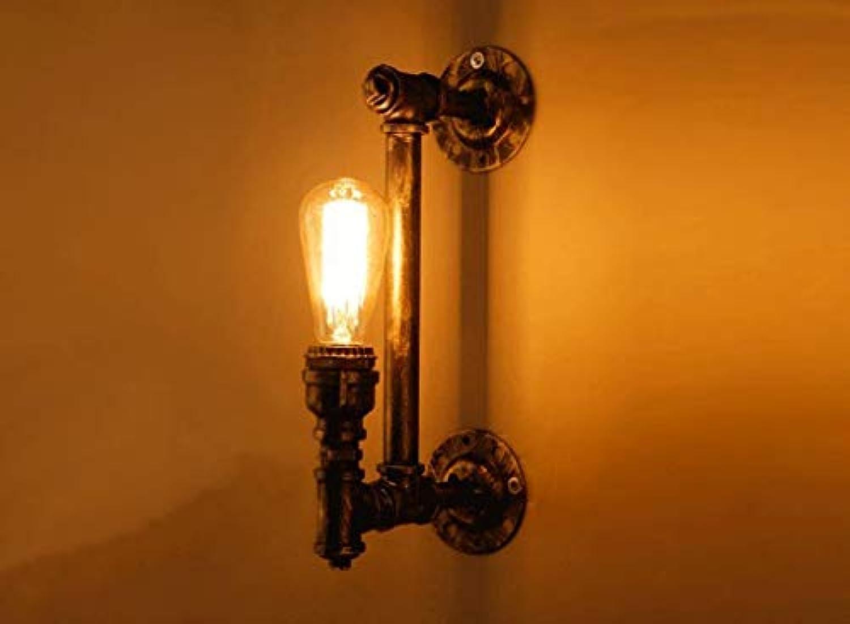Retro Wasserleitungen Wandleuchte nostalgische Gang Treppe Korridor kreative Lampen und Laternen einfach Bar Single Head E 27, 19  38 cm Neu (Gre  19  38 CM)