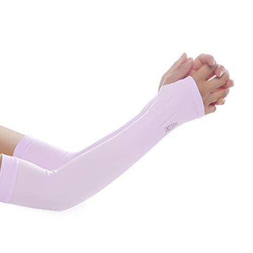 YAOQI Fundas de brazo de refrigeración con protección UV para hombres y mujeres, funda antideslizante para brazo de seda para golf, baloncesto, correr, ciclismo