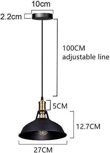 Lightess Lámpara de Techo Colgante Vintage Lámpara Industrial Retro Luz de...