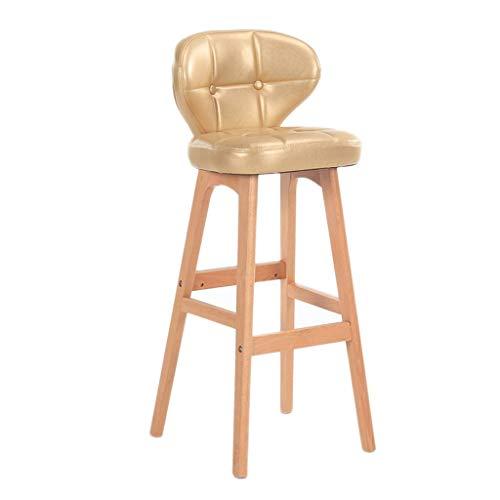 NUBAOgykongtiao Silla de comedor Taburete de bar de madera maciza taburete de desayuno silla de bar taburete alto taburete taburete de café taburete multicolor (color : B) (Color: C)