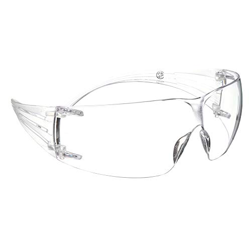 3M Safety Glasses, SecureFit, 1 Pair, ANSI Z87, Anti-Scratch, Clear Lens, Clear Frame, Secure Comfortable Fit