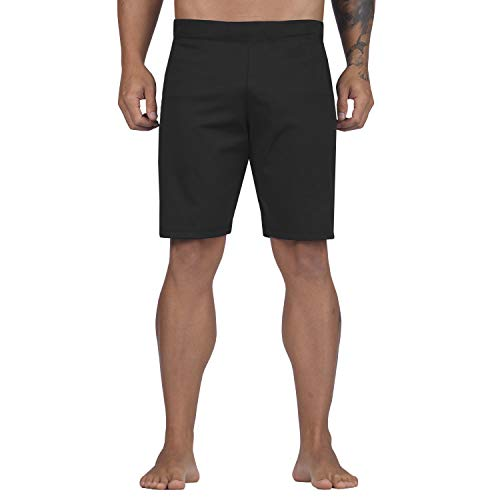 Elite Sports Crossfit Shorts for Men Best Workout Training High Waisted Board Adult Shorts (Black,...