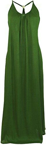 Guru-Shop Sommerkleid, Maxikleid, Strandkleid, Hippiekleid, Damen, Olive, Synthetisch, Size:S/M (40), Lange & Midi-Kleider Alternative Bekleidung