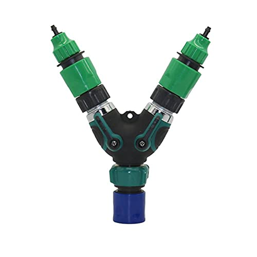 Conectores de la manguera 1set Kits de agua de 3/4'Interruptor de válvula de hilo macho estándar estadounidense con 4/7 mm 8/11 mm Adaptador de acoplamiento de la manguera Herramienta de irrigación d